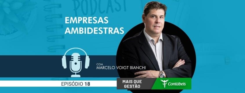 No episódio 18 do podcast mais que gestão, nosso ceo, marcelo voigt bianchi, fala sobre a nova característica das empresas que vão liderar o mercado: as ambidestras. | atlas contabilidade